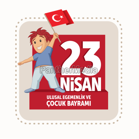 vector illustration of the 23 nisan