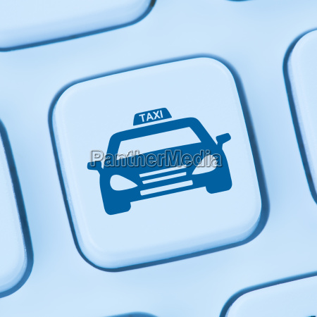 taxi online booking internet blue computer