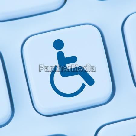 barrierefreies internet computer webdesign web blau