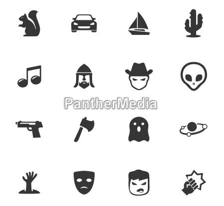 genres von kino icons gesetzt