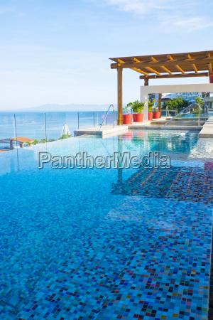 mexico puerto vallarta infinity pool on