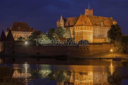 poland malbork castle at river nogat