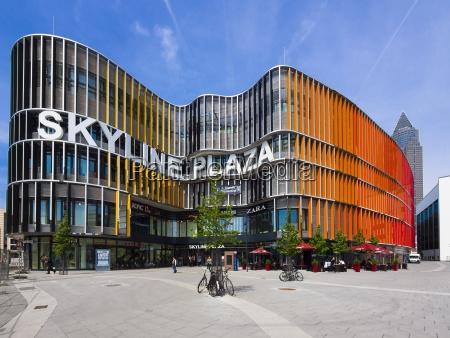deutschland hessen frankfurt einkaufszentrum skyline plaza