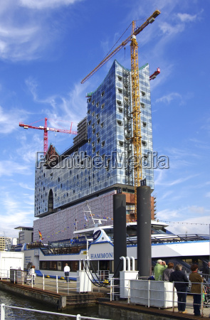 germany hamburg view of construction site