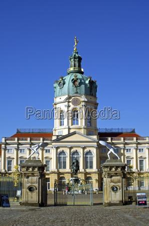 deutschland berlin ansicht von charlottenburg schloss
