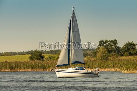 poland masuria sailing boat on lake