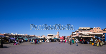 afrika marokko marrakesch markt am djemaa
