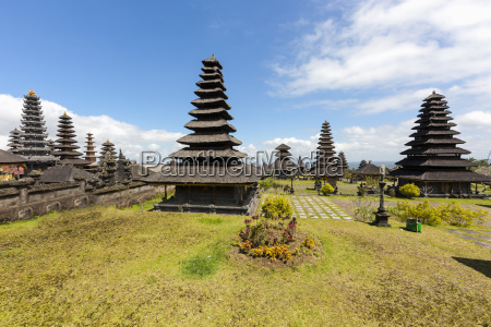 indonesia view of pagodas at pura