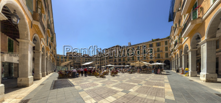 spanien mallorca palma blick auf plaza