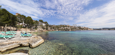 spain balearic islands mallorca view of