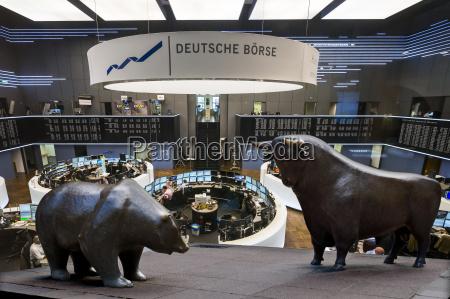 germany hesse interior of frankfurt stock