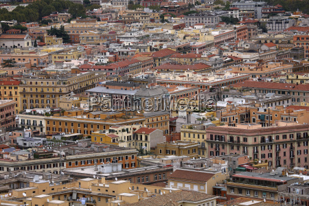 italy rome cityscape of historic old