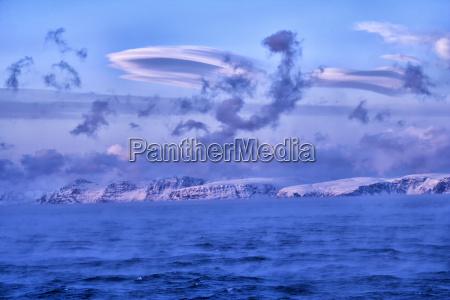 fahrt reisen arktis wolke nebel norwegen