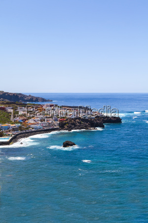spain view of fishing village of