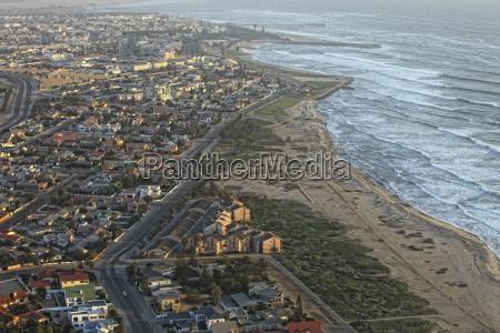 namibia skeleton coast aerial view of
