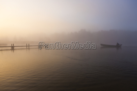 germany bavaria view of fog on