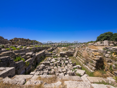 italy sicily selinunt ruins of temple