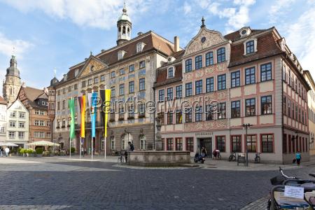 germany bavaria coburg view of marketplace