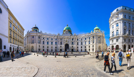 austria vienna hofburg palace and michaelerplatz