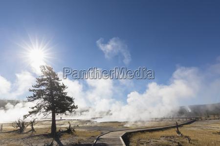 usa yellowstone nationalpark promenade durch keks