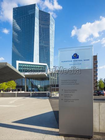 deutschland frankfurt europaeische zentralbank haupteingang
