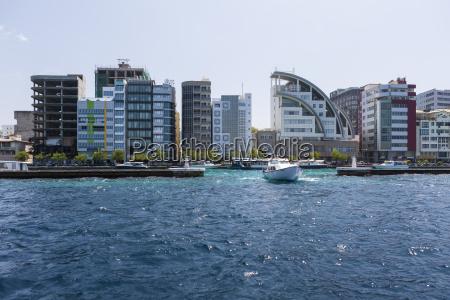 malediven male hafen und hafeneinfahrt
