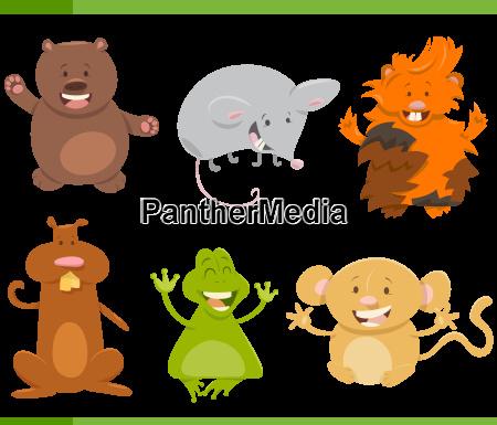 cartoon animal characters set