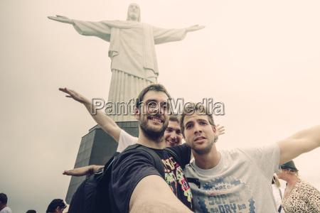 brasilien rio de janeiro corcovado gruppe
