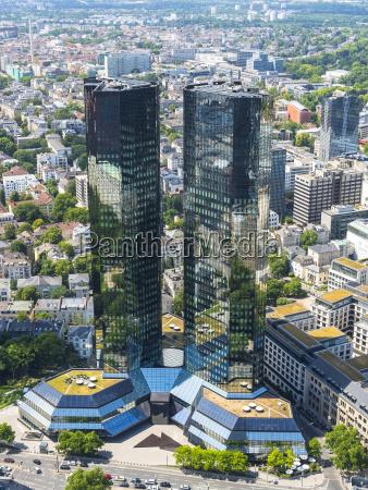 deutschland hessen frankfurt deutsche bank twin