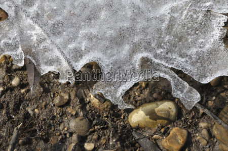 germany bavaria view of frozen lake