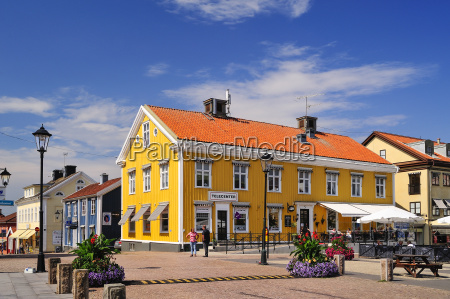 sweden smaland vimmerby town square