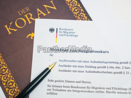 koran und deutsches dokument zur einbuergerung