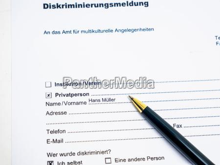 deutsches dokument zur berichterstattung ueber eine