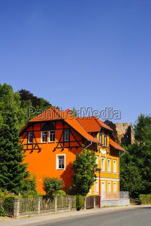 germany saxony tharandt house at the