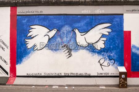 germany berlin mural painting of birds