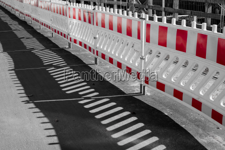 barrier at the construction site of