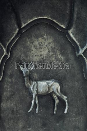 deer as pewter figure