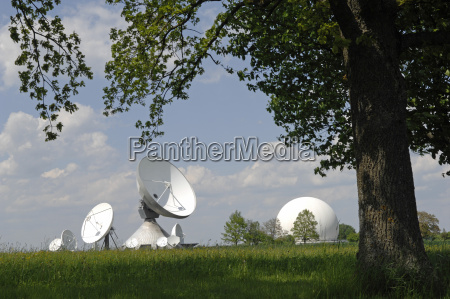 germany bavaria view of satellite dish