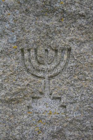 symbol der in granit geschnitzten israeliten