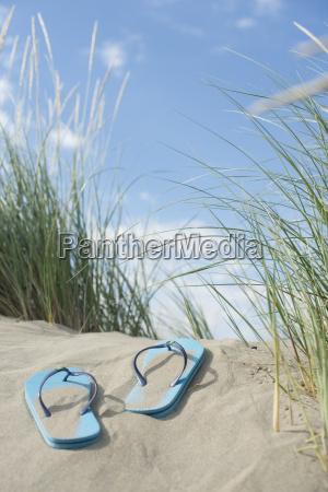 italy flip flops on the beach