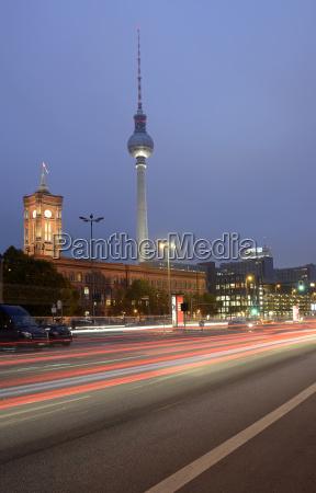 germany berlin traffic on street tv