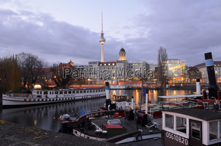 germany berlin historical harbour spree river