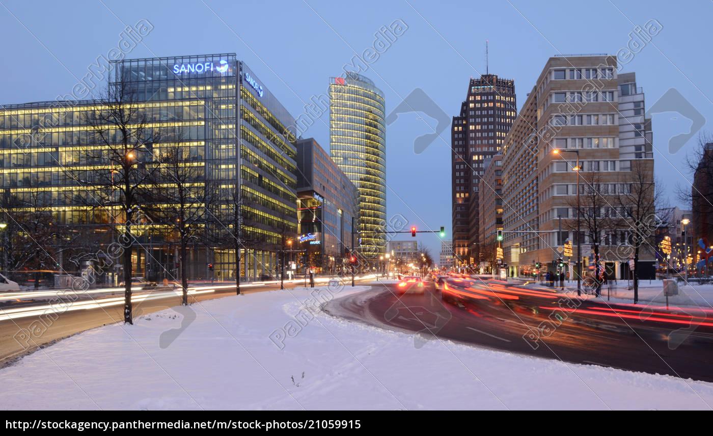 deutschland, berlin, verkehr, am, potsdamer, platz - 21059915