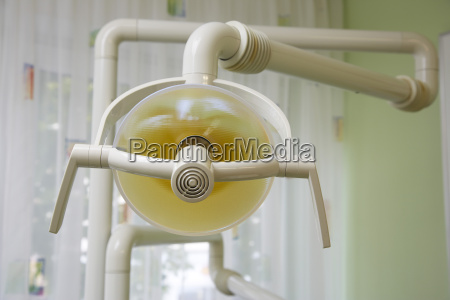 lamp in a dental surgery