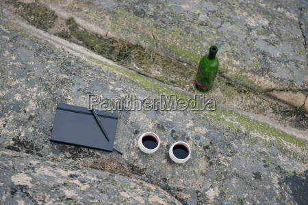 sweden kungshamn diary and red wine