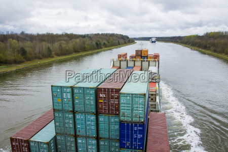 germany view of container ship in