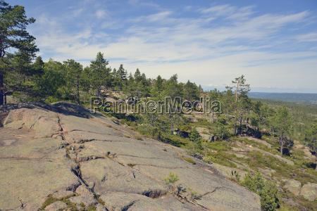 schweden oernskoeldsvik landschaft im skuleskogen nationalpark