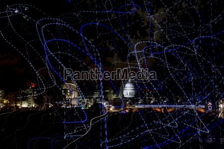 grossbritannien london blick auf die beleuchtete
