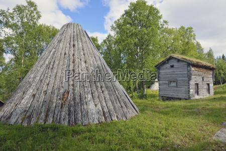 sweden vilhelmina log cabins and samian