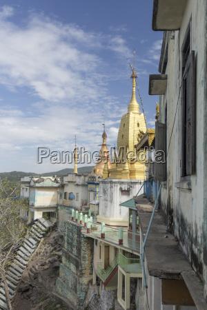 burma, mandalay, region, mount, popa, kloster - 21063015